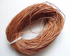 2mt di cordino  filo in Pelle cuoio 1,5mm colore perù per bracciale,collana