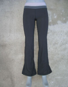 Lululemon Yoga Flare Pants Sz 4 Trousers 2 in 1 Reversible to Gray & Multi-Color