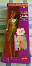 Vintage 1969 Ginger Talking Barbie Mute White Bikini Gold Cover up Red hair