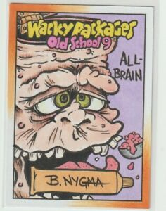 Wacky Packages Old School 9 Sketch Card B. Nygma