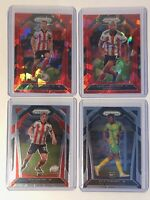 2020-21 Panini Prizm Soccer Lot Of 4 Cards. Includes Red Ice Prizms And Base RC
