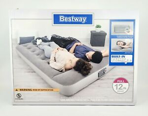 """Full Size Air Bed Mattress Inflatable Built-In Pump Pillow Storage Bag 75""""×54"""""""