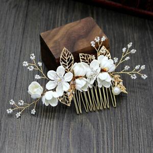 Bridal Bride Wedding Hair Comb Pearl Flower Headdress Hairpin Hair Accessories