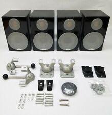 4 Monitor Audio Radius 90 Speaker Set System Gloss Black Lot