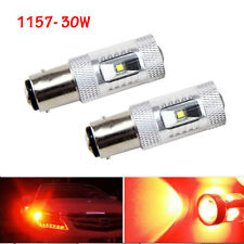2PCS 1157 BAY15D 30W LED Pure Red Light Tail Stop Brake Lamp Turn Backup Bulbs