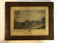 Bilderrahmen alt Biedermeier Nussbaum Holz Orig. Kupferstich Belgien um 1820