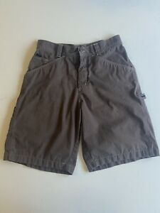 """Nike ACG Vintage Brown Cargo Shorts 30"""" Waist Loads Of Pockets And Hammer Strap"""