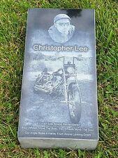 Headstone Grave stone Grave Marker Custom Engraved Monument Black granite 16x8x4