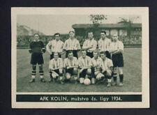 football card original 1934 AFK KOLIN Czech Republic