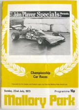MALLORY PARK 22nd Jul 1973 Motor Racing Official Programme Championship Races
