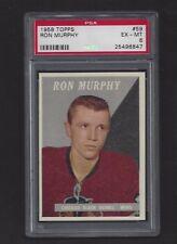 1958 Topps #59 Ron Murphy, PSA 6 EX-MT, Vintage Black Hawks NHL Hockey 1958-59