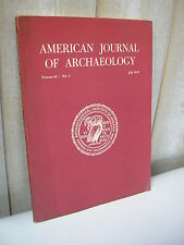 AMERICAN JOURNAL of ARCHAEOLOGY 1979 N°3
