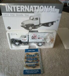 1st First Gear 1957 INTERNATIONAL Dry Goods Van Tech Tire Repair. New in Box.