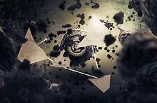 Encadrée Imprimer-sphère de rupture de ses Géométrique Polygone Cage (art photos)