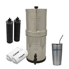 Big Berkey Water Filter System w/ 2 Black Berkey & PF2 Filters & 20 oz SS Cup