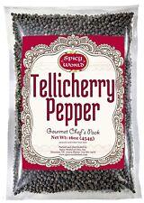 Spicy World Whole Black Peppercorns Tellicherry 16 Oz - Steam Sterilized Black