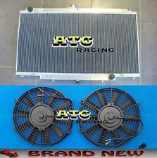 3 core Aluminum Radiator + Fans for Nissan Patrol Y61 GU 4.5L TB45E 6 Cyl Petrol