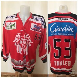 EHC Winterthur #53 Thaler Sz XL Nike Ice Hockey jersey shirt trikot MATCH WORN?