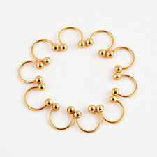10x Body Piercing Jewelry Horseshoe Septum Piercing Nose Lip Ring Ear Smiley Bar