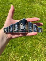 Huge Vintage Sterling Silver Siam Bracelet Wide