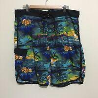 Hawaiian Sunset Surfwear Board Shorts Swim Surf Adult Mens 40