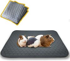 2 Pack Guinea Pig Fleece Cage Liners High Absorbent Non Slip Pee Pad Bedding New