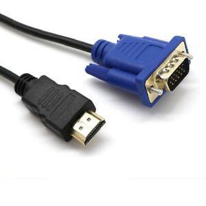 HDMI Kabel HDMI zu VGA Kabel Schwarz HDMI VGA Kabel Video Adapter Neu Praktische