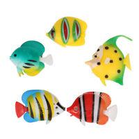 5 Stück bunte sortierte künstliche Plastik Aquarium tropische Fische