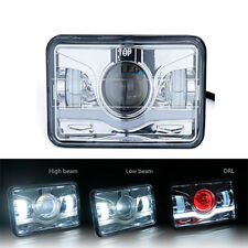 """4x6"""" CREE LED Headlight High Low Beam Sealed Replacement Lamp Sunrise Type DRL"""