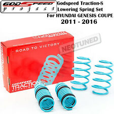GODSPEED TRACTION-S LOWERING COIL SPRINGS FOR HYUNDAI GENESIS COUPE 2011-2016