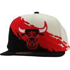 $30 Mitchell And Ness Chicago Bulls NBA Paintbrush Wool Snapback Cap white red