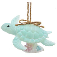 Kurt Adler Green Sea Turtle Beach Ocean Hawaiian Christmas Tree Ornament Decor