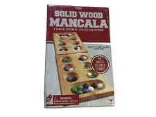Cardinal  Industries Solid Wood Mancala Folding Game Board New Unopened