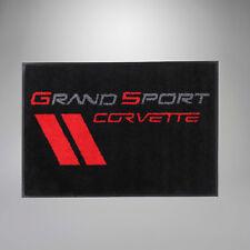1997-2004 Corvette  Grand Sport Logo Door Welcome Mat / Black Floor Rug 36 x 24