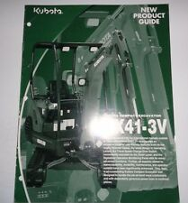 Kubota KX41-3V Excavator New Product Guide Sales Brochure catalog ad literature