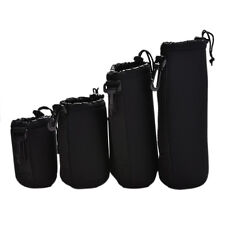 4pcs Neoprene Soft Protector Lens Pouch Case Bag S M L XL Set for DSLR Camera UK