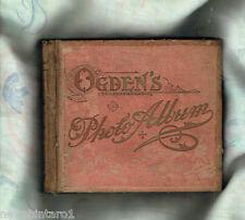 #T52.  1901 GENERAL INTEREST  OGDENS  CIGARETTE  CARD  ALBUM  WITH  102  CARDS