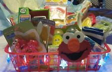 """""""Perfect Baby Gift"""" Lite Up ! Elmo Baby Gift Basket w Toys !"""