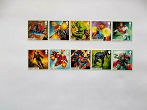 GREAT BRITAIN: 2019  Marvel Comics 10x1st Class stamps U/M Sg4182/91
