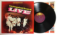 The Temptations Live - 1967 US Stereo 1st Press VG++ Ultrasonic Clean