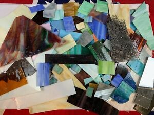 LOT 15 lbs SCRAP STAINED GLASS MIX LARGE - MEDIUM SIZED PIECES MOSAIC + Dies 440