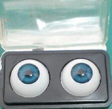 "pair of acrylic eyes blue 0.55""/14 mm / realistic eyes/ BJD/ Glastic"