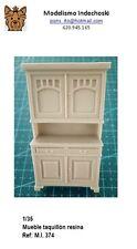 WWII 1/35 mueble salon taquillon 2 puertas furniture RESINA cabinet diorama