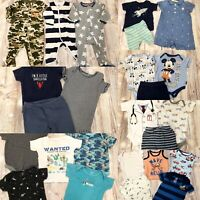 Baby boy 6-9 9 Months Spring Summer Fall Clothes Lot Pajamas Bodysuits Pants