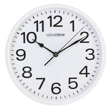 Plain White Bold Classic Quartz Wall Clock Non Ticking Silent Sweep Home Office