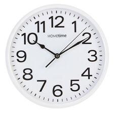 Plain White Bold Classic Quartz Wall Clock Non Ticking Silent Sweep Home Office