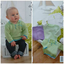 Knitting Pattern Baby Cardigan, pulls et gilet Gizeh DK King Cole 4190