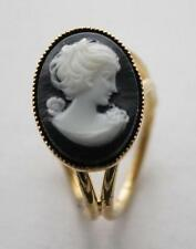 small pretty black cameo gold ring vintage style cameo scarf ring scarf clip