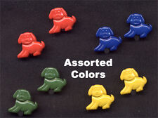 Funky PUPPY DOG BUTTONS EARRINGS Teacher Novelty MultiColor Jewelry- 4-Piece SET