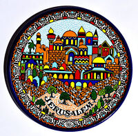 Collectible Armenian Plate Size 9cm From The Holyland Jerusalem #1